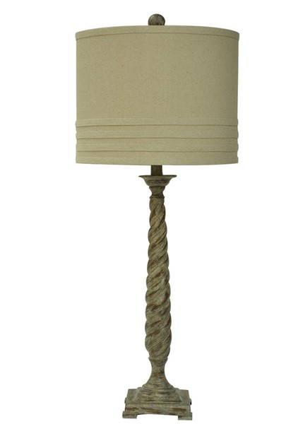 Crestview Collection Natural Antique Twist Table Lamp CRST-CVAUP964