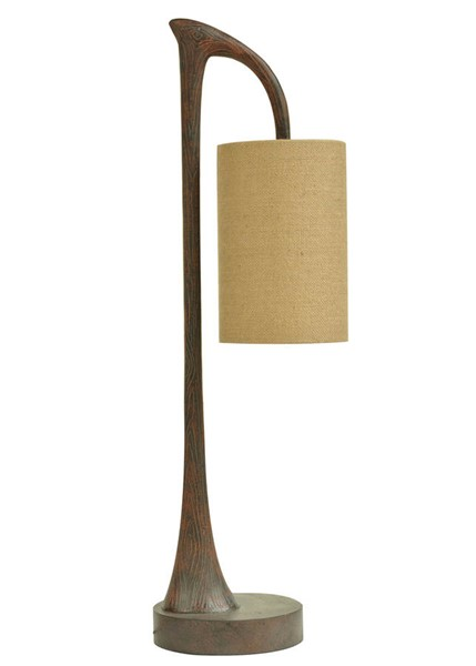 Crestview Collection Burlap West Larce Table Lamp CRST-CVAUP969