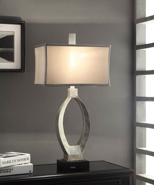 Crestview Collection Camden Grey Silver Table Lamp CRST-CVAUP974
