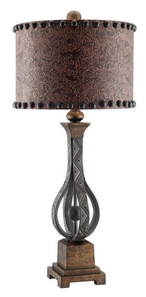Crestview Collection Rambler Antique Brown Table Lamp CRST-CVAUP994