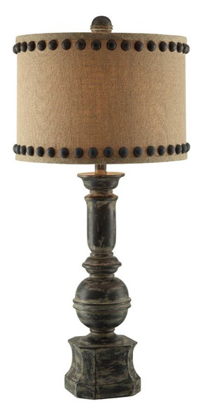 Crestview Collection Antique Burlap Paluster Table Lamp CRST-CVAUP995