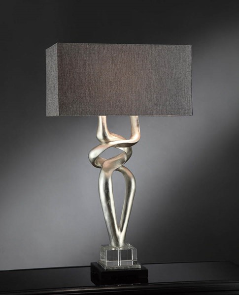 Crestview Collection Coventry Charcoal Silver Table Lamp CRST-CVAVP030