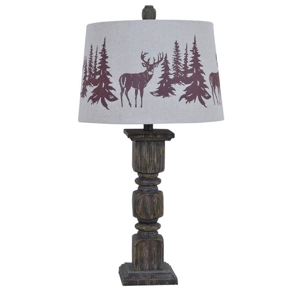 2 Crestview Collection Walnut Hunt Table Lamps CRST-CVAVP093
