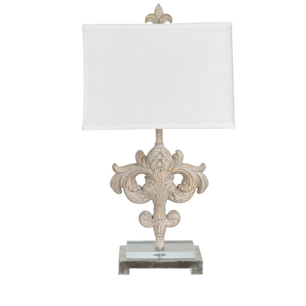 2 Crestview Collection Ainsley Toasted Cream White Table Lamps CRST-CVAVP1005