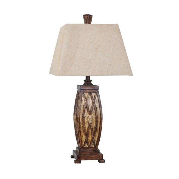 Crestview Collection Willow Burlap Table Lamp CRST-CVAVP102