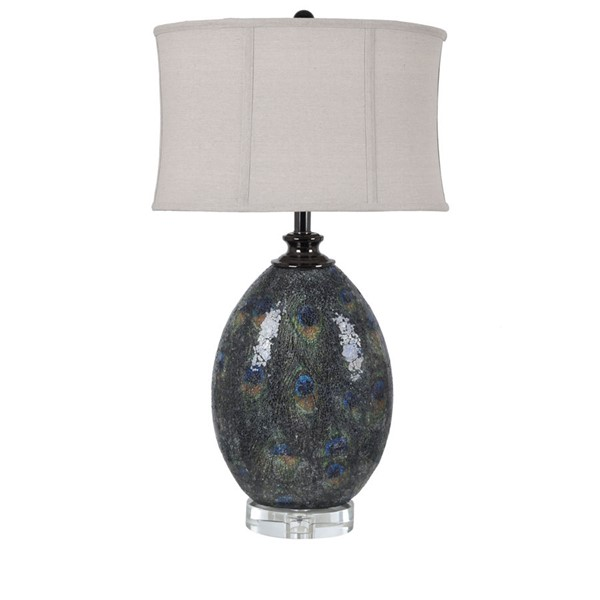 Crestview Collection Pavoda Natural Peacock Table Lamp CRST-CVAVP1385