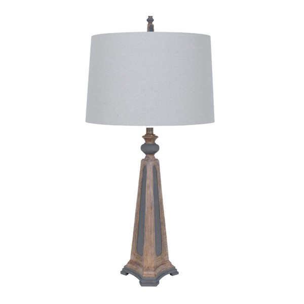 Crestview Collection Augustine Natural Grey Table Lamp CRST-CVAVP138R