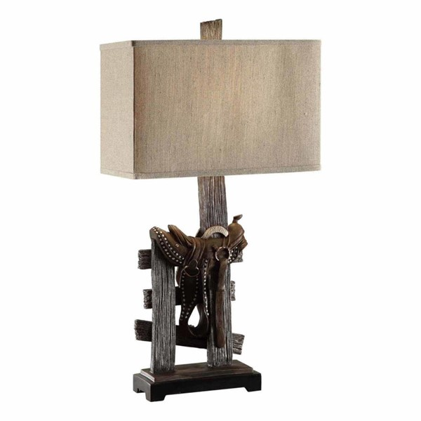 Crestview Collection Saddle Natural Table Lamp CRST-CVAVP160