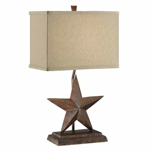 2 Crestview Collection Star Tan Table Lamps CRST-CVAVP162