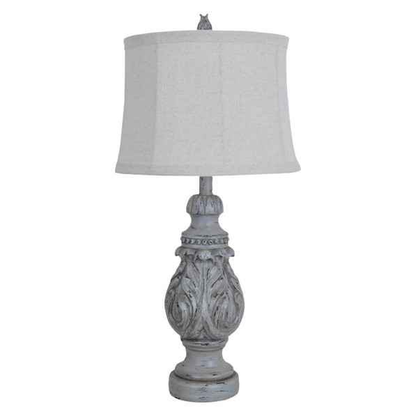 Crestview Collection Latham Blue Natural Table Lamp CRST-CVAVP239