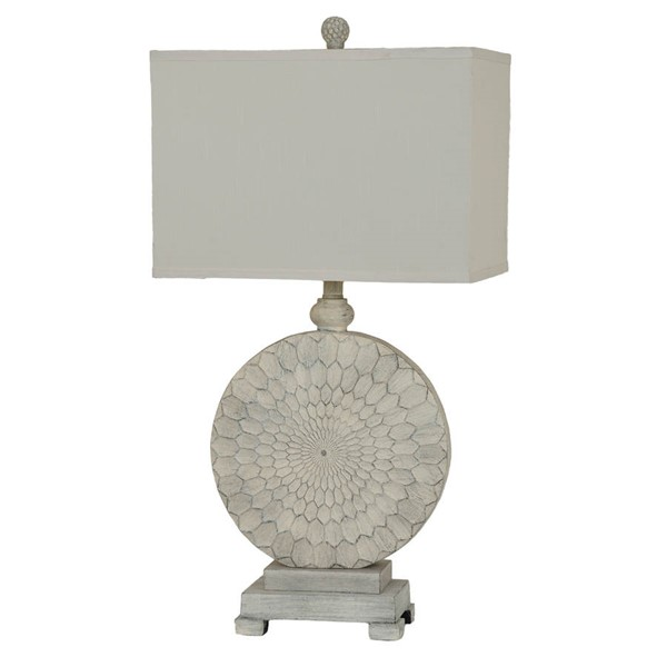 2 Crestview Collection Sundance Cake Cream Table Lamps CRST-CVAVP266