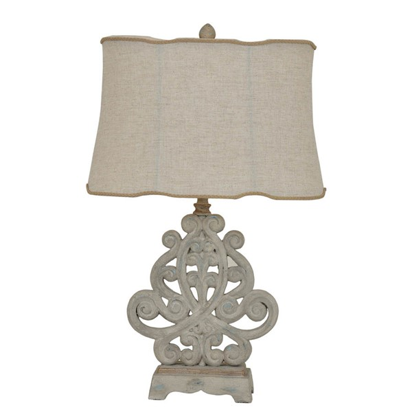 2 Crestview Collection Sarah White Washed Natural Table Lamps CRST-CVAVP283