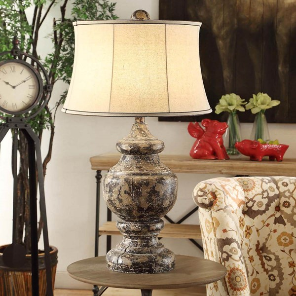 Crestview Collection Antique Black Corbel Table Lamp CRST-CVAVP376