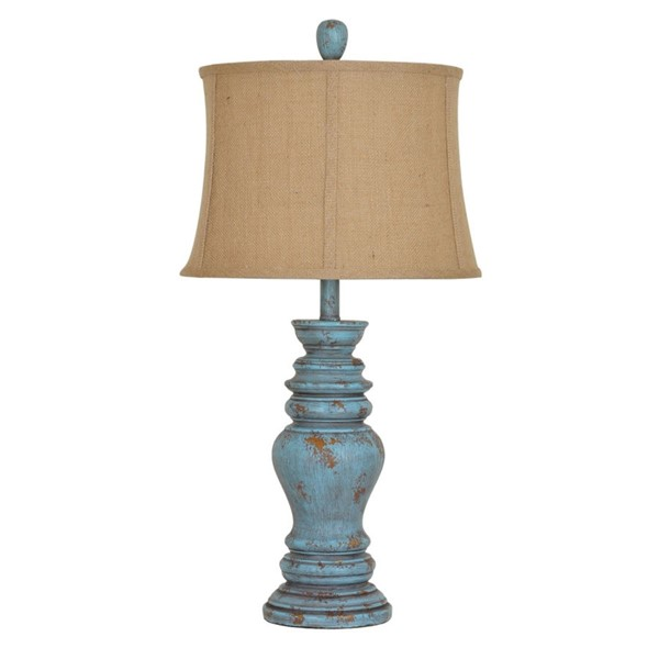 Crestview Collection Barclay Antique Turquoise Table Lamp CRST-CVAVP430