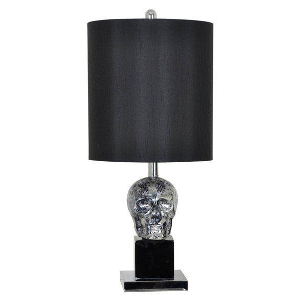 2 Crestview Collection Black Skull Table Lamps CRST-CVAVP470