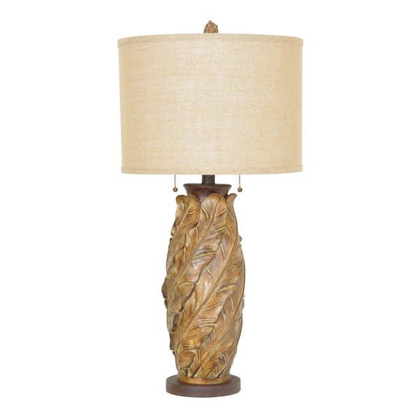 Crestview Collection Tobacco Banana Leaf Table Lamp CRST-CVAVP506