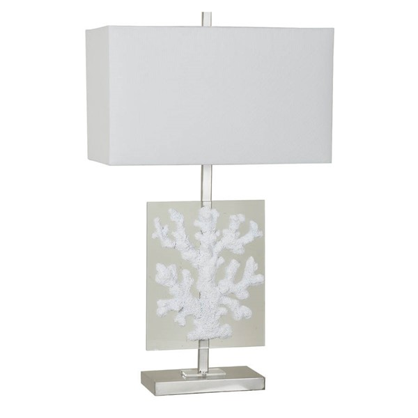 Crestview Collection Coral Clear White Glass Table Lamp CRST-CVAVP516