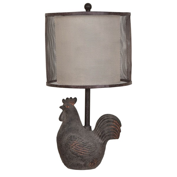 Crestview Collection Rooster Metal Table Lamp CRST-CVAVP530