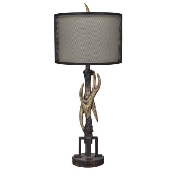 Crestview Collection Antler Natural Fabric Table Lamp CRST-CVAVP587