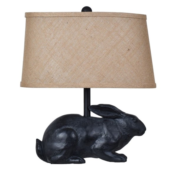 Crestview Collection Rabbit Black Burlap Table Lamp CRST-CVAVP591