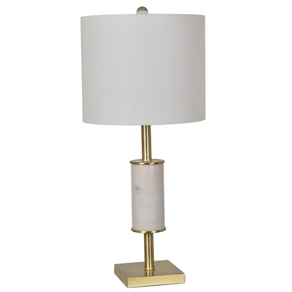 Crestview Collection Maxwell White Table Lamp CRST-CVAVP613