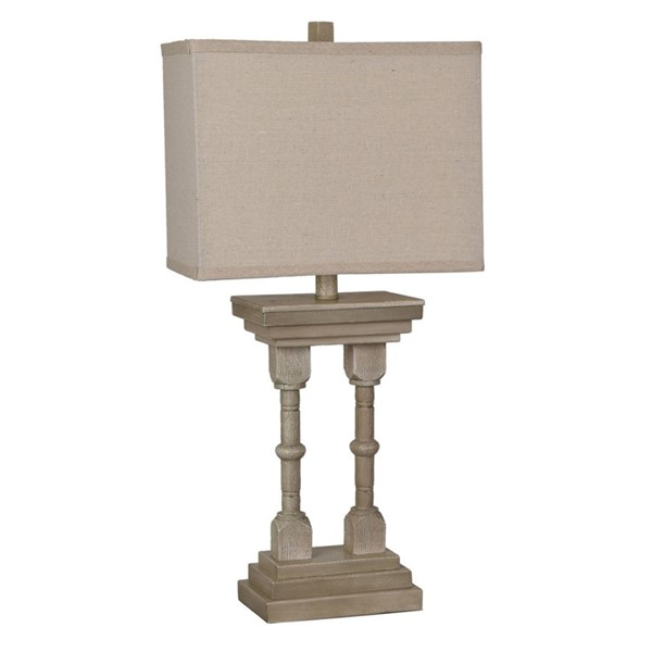 Crestview Collection Oatmeal Square Shade Table Lamp CRST-CVAVP629