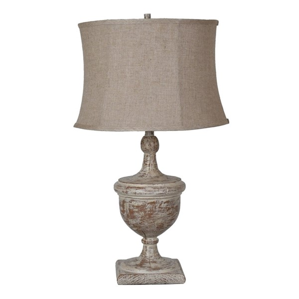 Crestview Collection Dumont Antique Oatmeal Table Lamp CRST-CVAVP645