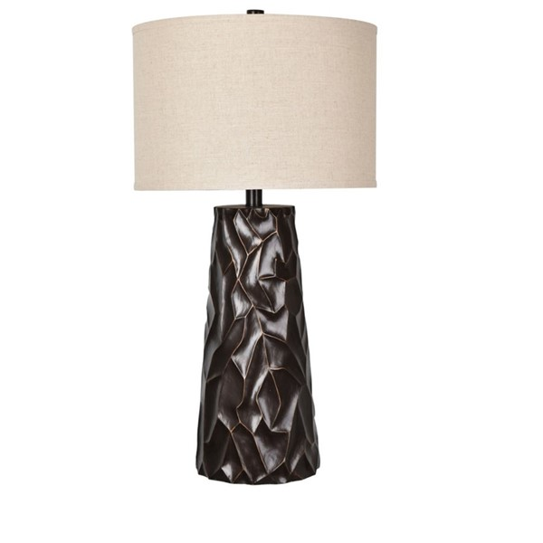 Crestview Collection Huston Natural Bronze Table Lamp CRST-CVAVP666