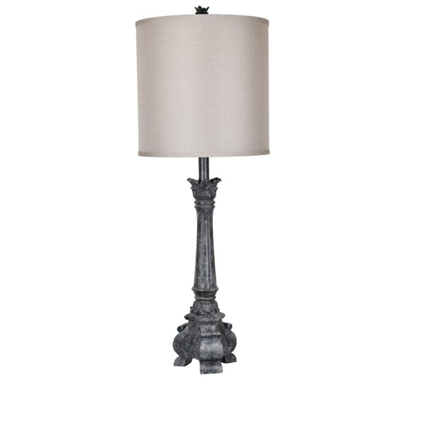Crestview Collection Noura Antique Black Table Lamp CRST-CVAVP670