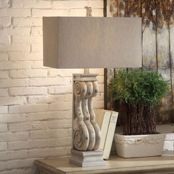 2 Crestview Collection Serenity Tarnished Blonde Oatmeal Table Lamps CRST-CVAVP942