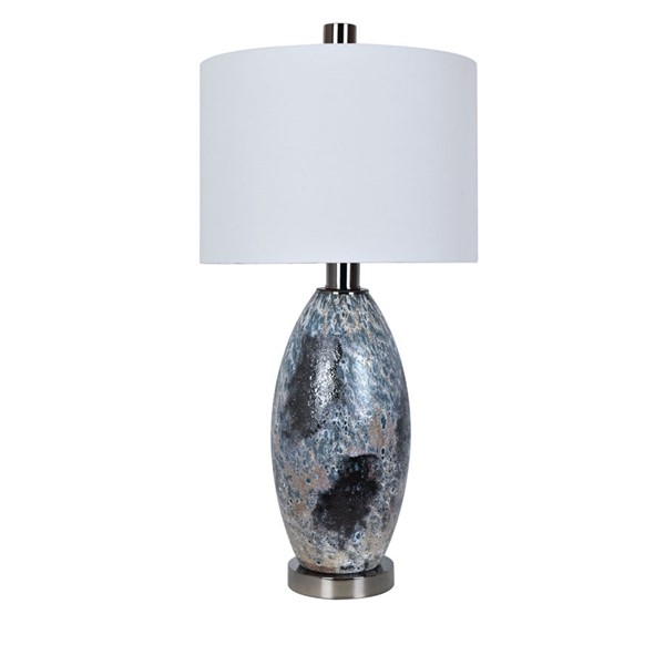Crestview Collection Logan Black White Table Lamp CRST-CVAZBS041