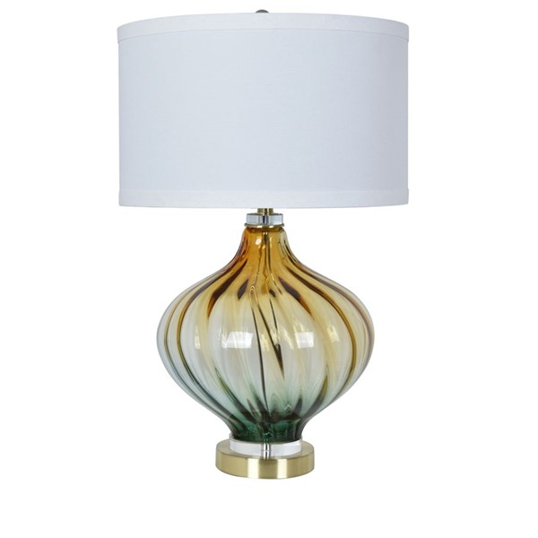 Crestview Collection Amelia Champagne White Table Lamp CRST-CVAZBS042