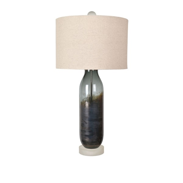 Crestview Collection OKeefe Cobalt Oatmeal Table Lamp CRST-CVAZBS051