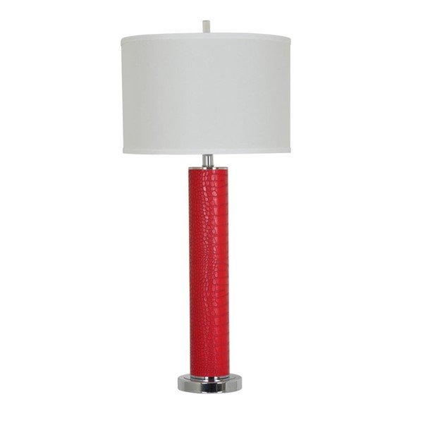 Crestview Collection Hardy Red Table Lamp CRST-CVAZER012