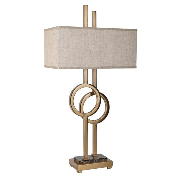 Crestview Collection Vinny Tan Table Lamp CRST-CVAZER022