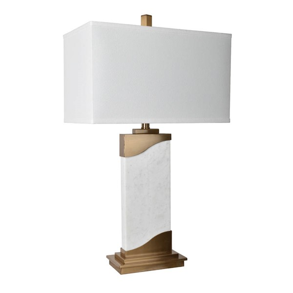 Crestview Collection Aubin White Table Lamp CRST-CVAZER023