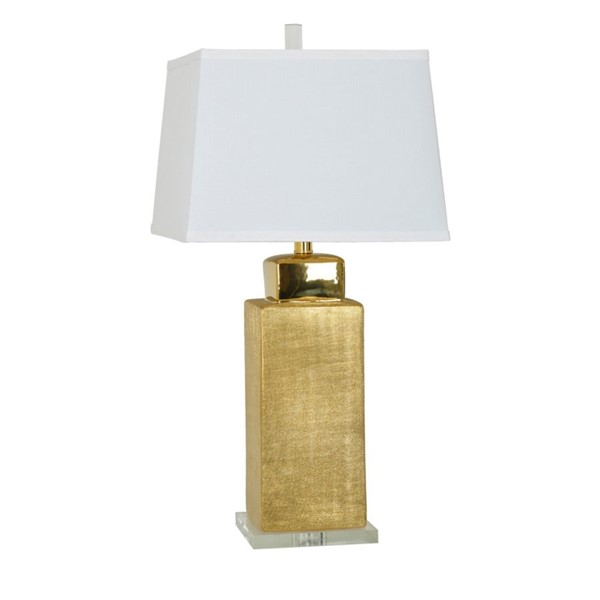 Crestview Collection Golden Rectangle Shade Table Lamp CRST-CVAZP004