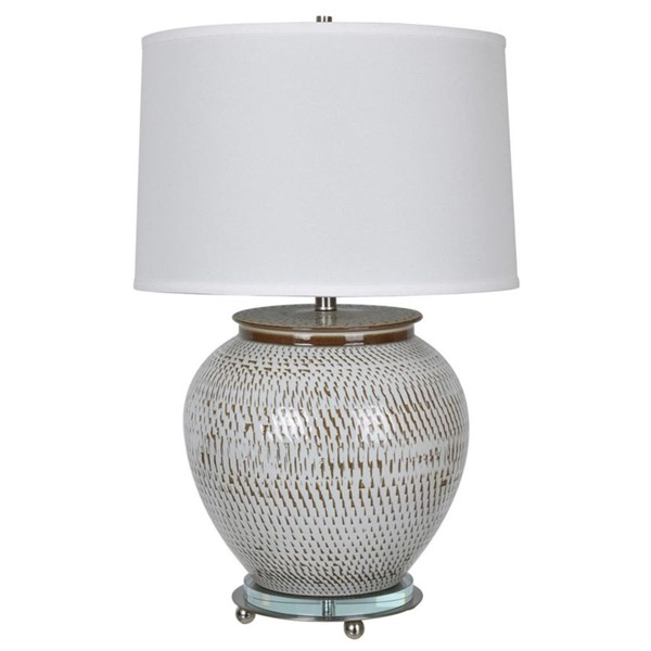 Crestview Collection Lise Aged Off White Table Lamp CRST-CVAZP008