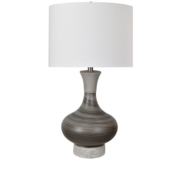 Crestview Collection Watson Gray Brown Table Lamp CRST-CVAZP035