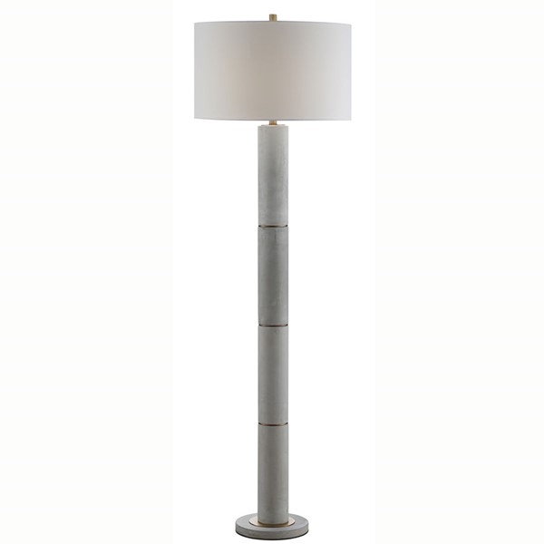 Crestview Collection Hadley White Floor Lamp CRST-CVAZVP025