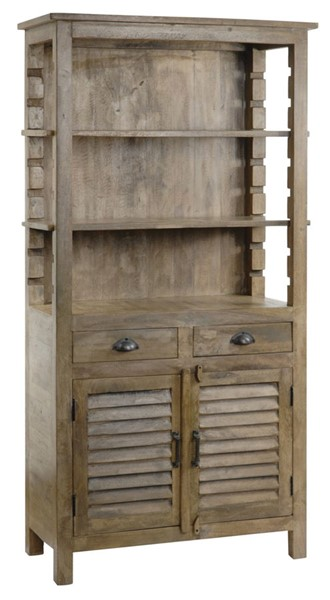 Crestview Collection Bengal Manor Grey Solid Wood Bookcases CRST-CVFNR303