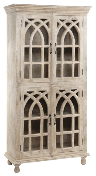 Crestview Collection Bengal Manor 4 Doors Tall Curio Cabinet CRST-CVFNR321