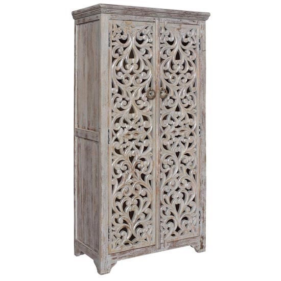 Crestview Collection Bengal Manor Wood 2 Door Tall Cabinet