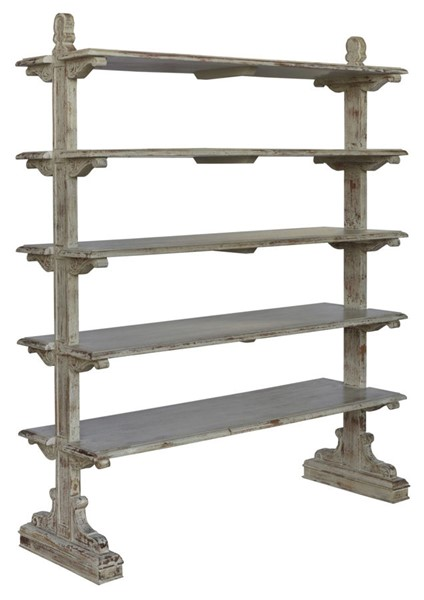 Crestview Collection Bengal Manor Wood 5 Tier Bookcases CRST-CVFNR357