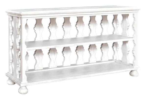 Crestview Collection Bengal Manor White Mango Wood Console Table CRST-CVFNR408