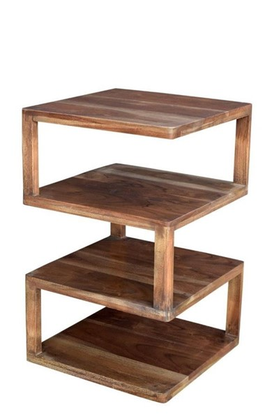 Crestview Collection Bengal Manor Wood Square End Table CRST-CVFNR414
