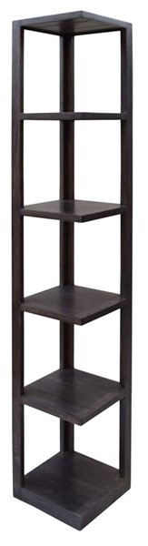 Crestview Collection Bengal Manor Grey 5 Shelves Etagere CRST-CVFNR420