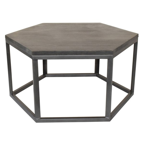 Crestview Collection Bengal Manor Grey Hexagon Cocktail Table CRST-CVFNR427