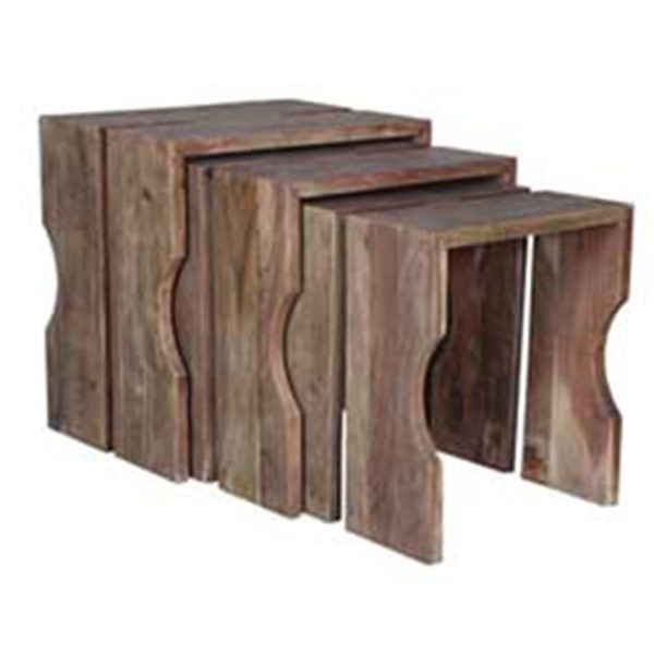Crestview Collection Bengal Manor Acacia Wood Nesting Table Set CRST-CVFNR468