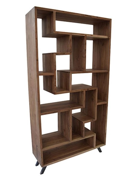 Crestview Collection Bengal Manor Acacia Wood Etagere Bookcase CRST-CVFNR478